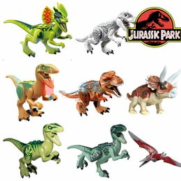 Wholesale Build Dinosaur - 8styles12cm Building Blocks Dinosaur Triceratops Kids Toys Kids Toys