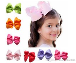 Wholesale Cute Bow Grosgrain - 12cm Children Girl Hair Bows Clips Cute Hair Pin Grosgrain Ribbon Big Bows Hairpins for Kids Girl Hair Accessories