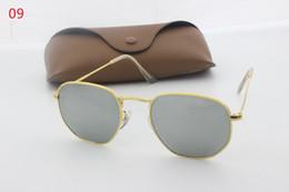 Argentina Moda nueva gafas de sol de diseñador de alta calidad 100% marco de aluminio lente de cristal espejo de conducción retro de alta definición Suministro