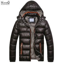 Wholesale Hooded Mens Light Jacket - Wholesale- 2016 mens winter Warm down jacket men Light Down coat Man's fur jacket hooded warm Coat size :M-3XL
