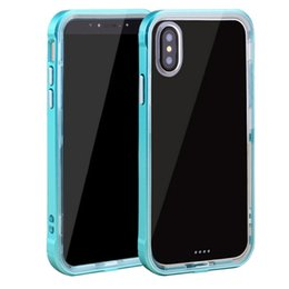 Wholesale Iphone Crystal Bumper Cases - Soft Clear TPU Reinforced PC Frame Protective bumper phone case crystal transparent cases for iphone x 8 iphone 7 case