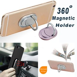 Wholesale Metal Cell Phone Stands - Magnetic Holder Metal Phone Holder with Stand Unique Fit Cell Phone Holder Fashion For Universal Cellphone