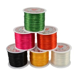 Wholesale Elastic String For Beads - Jewelry String Cord 50M Nylon Cord Elastic Beads Cord Stretchy Thread String for DIY Jewelry Making Beading Wire Ropes Multi Colors Optional