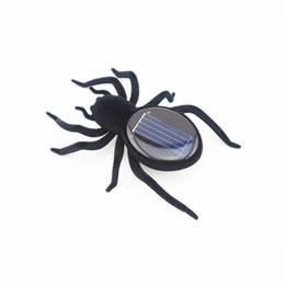 Juguetes araña insectos online-8 6aw Insect Animal Solar Power 8 Piernas Black Crazy Spider Toys Ciencia y Educación Puzzle Solars Energy Spiders Novedad
