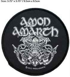 Canada Amon Amarth Odin Art Nordique Viking Patch Tissé Patch Hardcore Music Band Heavy Metal Fer Sur MOTIF APPLIQUE Insigne Rock Punk cheap iron symbols Offre