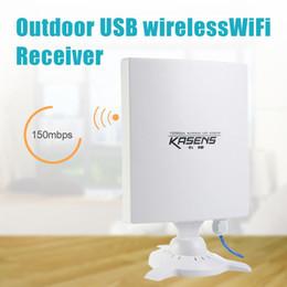 Wholesale Dbi Network - KASENS N9600 High Power 6600MW 150Mbps USB Wireless WiFi Adapter Network Card 80 DBI Antenna 802.11B   G   N Outdoor Long Range