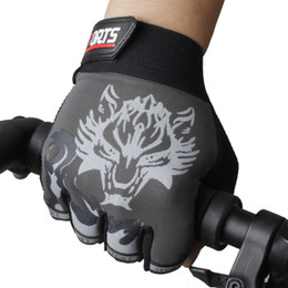 Wholesale fingerless climbing gloves - Wholesale- men climbing army fitness sports outdoor gloves semi-finger antiskip gift mountaineering mittens