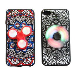 Wholesale Fingertips Iphone - Fingertip Gyro for iphone 6S Case Led Decompression Fingertip Gyro Phone case for iphone 7 case Cover