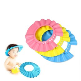 Wholesale Baby Bath Hair Cap - Earmuffs Thickening Visor Hat Baby Water retaining Care Wash Hair Shampoo Cap Child Bath Shower Adjustable Bath Bathing Toddler 1 9jm C