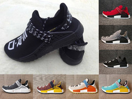 Wholesale Cotton Ink - Wholesale NMD NERD Human Race trail Running Shoes Men Womens Pharrell Williams NMD Yellow noble ink core Black Red sports Shoes eur 36-47