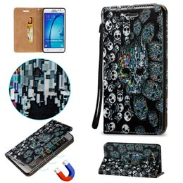 Wholesale Galaxy Grand Duos 3d Cases - Waterproof Case For Samsung Galaxy Grand Duos 9082 ON5 S6 Edge Plus 3D Magnetic Close Shell PU Leather Stand Wallet Card Slots Rope Cover