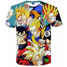 Wholesale Super Tees - 3D T shirts Dragon Ball Z Goku 3D t shirt Funny Anime Super Saiyan t shirts Men women Harajuku tee shirts Casual t-shirts tops