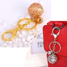 Wholesale Metal Bell Charms - Womens Ladies Bell Ball Metal Car Keyring Keychain, Bag Alloy Charm Pendant. Key Holder