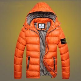 Wholesale Mens Clothes Slim - 2017 Mens Winter Coat Winter Stone Jacket Men Cotton Brand Clothing Jackets Parkas Mans ISLAND cotton Coats