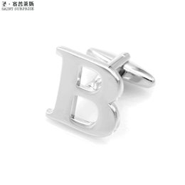 Wholesale Mens Button Jewelry - JTL Fashion Luxury shirt Silver Letter B cufflink for mens Brand cuff buttons cuff links High Quality abotoaduras Jewelry