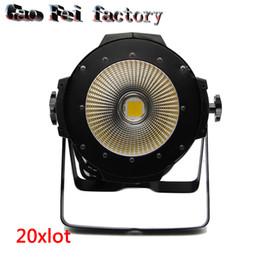Wholesale Cooler Master Wholesale - 20pcs lot High Power COB 100W Par Led Par COB 100W DMX512 DMX Stage Light with cool white and warm white