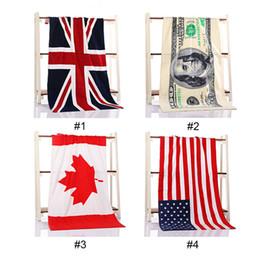 Wholesale Wholesale Cotton Bath Beach Towel - Newest Towel Wholesale pure cotton Bath towel Beach Canadian flag American flag British flag Absorbent 1pcs 75x140cm 3002047