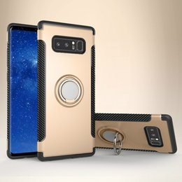 Wholesale magnet phone cases - For Samsung note8 S8 S8+ S7 edge for Apple iPhone X 8 7 6S Plus Vehicular magnet Kickstand Shockproof Armor cell phone cases