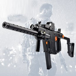 Wholesale Electric Toy Submachine Guns - 318 Dagger Electric Water Toy Gun Plastic Interactive Toy Guns Cool Lighting Infrared Submachine Children Gifts