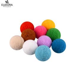 Wholesale Harmony Pendants - 100pcs Aromatherapy Ball Essential Oil Diffuser Perfume Balls for 18 20mm Harmony Locket Cage Women Pompon Ball Pendant New 2016
