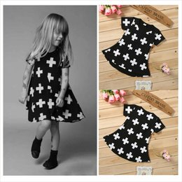 Wholesale Baby Girl Dress Check - Wholesale- Free delivery of 2016 new checked children's dress cotton long sleeved girl baby fashion dress