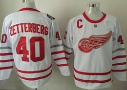 Wholesale Linen Shirts Men Cheap - wholesale Red Wings 40 ZETTERBERG Hockey Jerseys shirts,Cheap 9 HOWE 71 LARKIN Training Hockey Wear uniforms,19 YZERMAN personality ice Wear