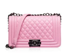 Wholesale Ladies Sequined Tops - Top Fashion Woman Bag Promotional Ladies luxury PU Leather Handbag Chain Shoulder Bag Plaid Women Crossbody Bag