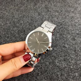 Wholesale Folding Water Glass - Hot Sale reloj mujer Ladies Fashion Gold silver Luxury Brand Women Steel Wristwatch Quartz ladies watch Free Shipping