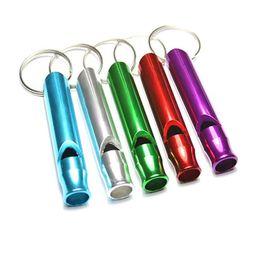 Wholesale Cross Whistle - Aluminum Alloy outdoor survival whistle Keychain multifunctional whistle KEYCHAIN WHOLESALE logo custom printing