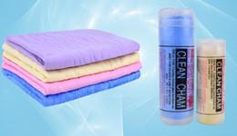 Wholesale Pva Magic Towel - Big size 66*43cm Magic Synthetic Deerskin PVA Chamois Car Cleaning Cham Towel Wash Cloth Sponge Plas Chamois with storage case DHL fast