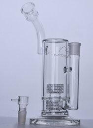 Wholesale Stainless Steel Rigs - BIG Mobius Glass bongs glass water pipe dab rig Double Stereo Matrix Perc with 18 mm joint