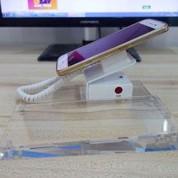 Новый держатель стойки дисплея обеспеченностью телефона способа умный с сигналом тревоги и акриловой плитой стойки ярлыка от Поставщики акриловые подставки для телефона