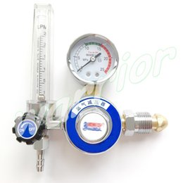 Wholesale Regulator Gauge - Wholesale-Argon Regulator Outer Thread AR Gas Flowmeter Gauge For TIG Welding