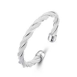 Wholesale Womens Bracelet Sets - Women Charms Simple Cuff Bracelets Bangle Silver Filled Fashion Jewelry Design Womens Cuff Bangles Love Bracelet For Women Gifts