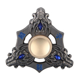 high quality hand fidget spinner Promo Codes - Hot Selling EDC Toys Triangular Hand Spinner High Quality Metal Profession Genji Spinner ADHD Tri Spinner Cool Fidget Spinners