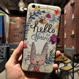 Wholesale 3d Printed Phone Case - Super Nice 3d Embossing print Back Cover Case For Apple Iphone 6 6s Plus Case With Dust Plug For Iphone 7 7s Phone Cases