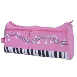 Wholesale Pink Piano Keyboard - Pencil Case Pencil bag Piano keyboard Bag Pen Case Oxford Cloth Case Zipper Pencil Pouch Storage