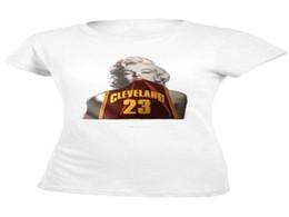 Wholesale Lebron T Shirts - Marilyn Monroe Wear Lebron James 23 Cleveland Jersey T-Shirt Men's Summer Style Cotton T-Shirt Custom