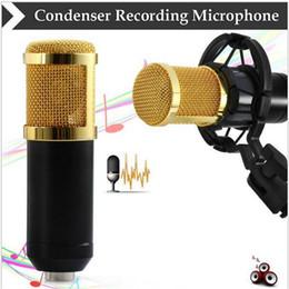 2019 estudios kit BM - 800 Dynamic Condenser Wired Recording Micrófono Sound Studio con Shock Mount para el kit de grabación KTV Karaoke rebajas estudios kit