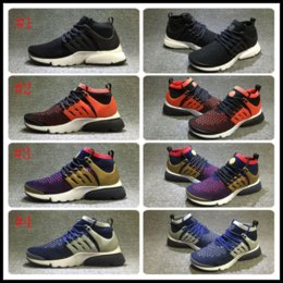 Wholesale Mens Sport Toe Socks - Air Presto Ultra Knit Mid Mens Running Shoes 2017 Fashion Sock-Like Sneakers Cheap High Quality Mesh Breathable Olympic Sports Shoes