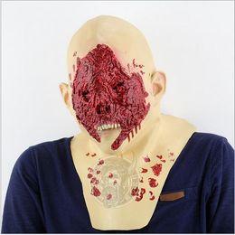 зомби-маски Скидка Ужас призрак Демон паразит зомби маска латекс амуниция вампир череп партия Хэллоуин страшный террор маски ужасы туши латекс реалиста