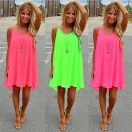 mais tamanho mini sundress Desconto Frete grátis mulheres beach dress verão dress chiffon mulheres dress verão estilo vestido de festa vestido de verão plus size roupas femininas