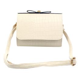 Wholesale Croco Leather Tote Handbag - Wholesale-2016 Fashion Women Croco Bow Handbag Shoulder Bag Leather Lady Handbags Crossbody Bag Messenger Bags Tote Ladies Purse