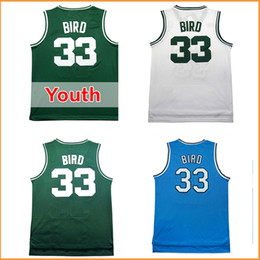 Wholesale men s Larry Bird jersey Cheap Throwback Basketball jerseys adult kids youth stitched Basketball jerseys Green white Blue color