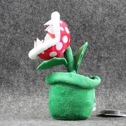 "Wholesale Mario Plant Plush - Hot ! Piranha Plant Super Mario Bros Plush Dolls Stuffed Animals Toys For Child Best Gift 8"" 20cm"