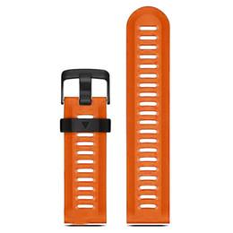 Wholesale Clasp Kits - Wholesale- YCYS-For Garmin Fenix 3 HR Soft Silicone Strap Replacement Wrist Watch Band+Tool Kits Orange