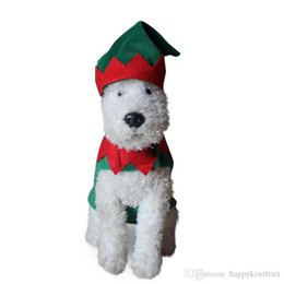 Wholesale Chirstmas Elves Wholesale - Christmas Pet Clothing Dog Coat Jacket Santa Claus Elf cosplay costume Fancy Dress Cat Puppy Costume