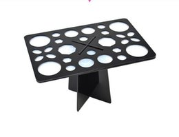 Wholesale Organize Tools - 28 26 Holes Collapsible Air Drying Makeup Brushes Holder Organizing Makeup Brush Tower Tree Rack Cosmetic Tool Holder