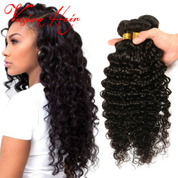 Wholesale Afro Kinky Weave - Deep Wave Brazilian Hair 3Pcs Good Quality Deep Curly Bundles Unprocessed Virgin Deep Wave Hair Afro Kinky Curly Human Braiding Hair
