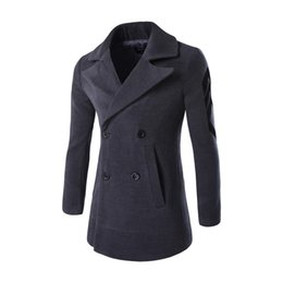 Wholesale Outdoor Trench Coat - Wholesale- New british classic long gray trench coat double breasted slim fit Outdoors Outwear Jacket Windbreaker geometric plus size XXL